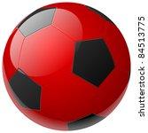 red soccer ball   Shutterstock .eps vector #84513775