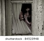horror scene of a scary woman... | Shutterstock . vector #84523948