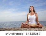 beauty girl on bech | Shutterstock . vector #84525367