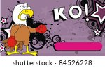 eagle boxer cartoon background... | Shutterstock .eps vector #84526228