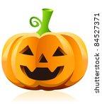 halloween pumpkin vector | Shutterstock .eps vector #84527371
