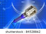 digital illustration of  a wire ... | Shutterstock . vector #84528862
