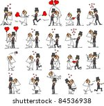 large set of wedding pictures   Shutterstock .eps vector #84536938