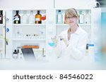 portrait of a female researcher ... | Shutterstock . vector #84546022
