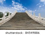 stone arch bridge in summer palace ,beijing - stock photo