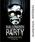halloween party design template ... | Shutterstock .eps vector #84550642