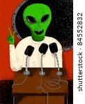 alien speech - stock photo
