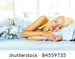 young woman peacefully asleep... | Shutterstock . vector #84559735
