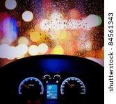 Car Instrument Panel Rain Window