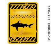 Grunge Shark Attack Warning...