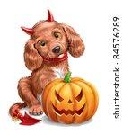 halloween puppy | Shutterstock . vector #84576289