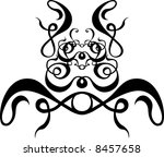 vector scroll pattern painting... | Shutterstock .eps vector #8457658