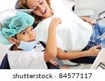 child teeth checkup at dentist... | Shutterstock . vector #84577117