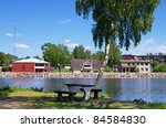 Lake In Stromsnasbruk. Sweden ...