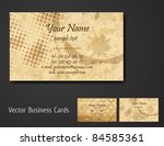 vector business card set | Shutterstock .eps vector #84585361