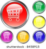 shopping cart buttons | Shutterstock .eps vector #8458915