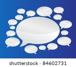 speech bubbles communication... | Shutterstock . vector #84602731