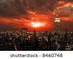 new york city midtown skyline... | Shutterstock . vector #8460748