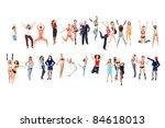 exercise jumping girls | Shutterstock . vector #84618013