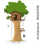 Tree House  Illustration Of A...