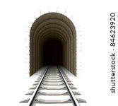 entrance to railway tunnel.... | Shutterstock .eps vector #84623920
