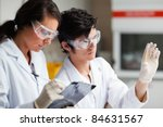 concentrate science students... | Shutterstock . vector #84631567