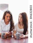 portrait of friends looking at... | Shutterstock . vector #84632803