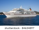 cruise ship by sea  travel and... | Shutterstock . vector #84634897