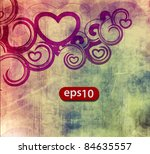 Abstract Heart Vector For...