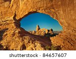 turret arch through north... | Shutterstock . vector #84657607
