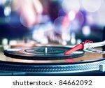 vinyl record spinning on dj... | Shutterstock . vector #84662092