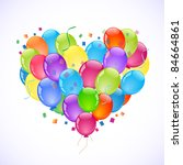 party colorful balloons | Shutterstock .eps vector #84664861