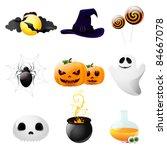 set of halloween design elements   Shutterstock .eps vector #84667078