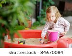 Adorable Little Girl Playing I...