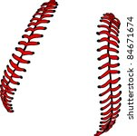 baseball laces or softball... | Shutterstock .eps vector #84671674