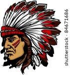 indian chief mascot head vector ... | Shutterstock .eps vector #84671686