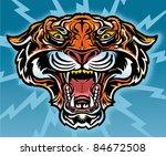 tiger mascot tattoo | Shutterstock .eps vector #84672508