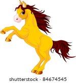Cartoon  Horse Rearing Up....