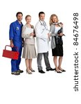 mechanic  secretary  doctor and ... | Shutterstock . vector #84676498