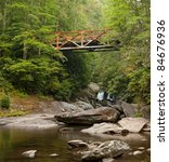 Old Rusted Iron Bridge In The...