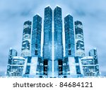 perspective view to glass high... | Shutterstock . vector #84684121