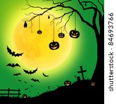 halloween night party | Shutterstock . vector #84693766
