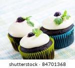 Dark Chocolate Cupcakes With...