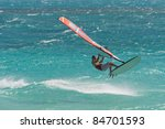windsurfing champion playing in ... | Shutterstock . vector #84701593