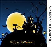 halloween background vector... | Shutterstock .eps vector #84706240