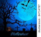 halloween background template... | Shutterstock .eps vector #84714787