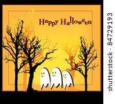 happy halloween ghostly... | Shutterstock .eps vector #84729193
