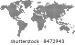 dotted world map | Shutterstock .eps vector #8472943