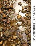 Brown Natural Wet Rocks In...