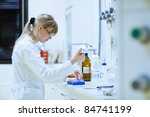 female researcher carrying out... | Shutterstock . vector #84741199